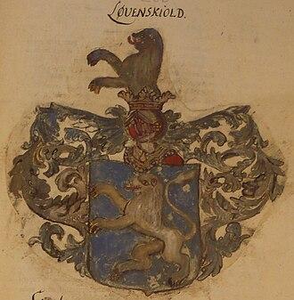 Løvenskiold (noble family) - Image: Loevenskjold vaapen