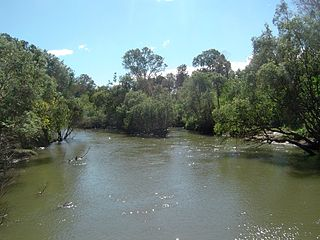 Logan River river in Queensland, Australia