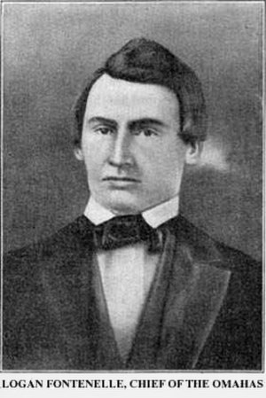 Omaha, Nebraska - Logan Fontenelle, an interpreter for the Omaha Tribe when it ceded the land that became the city of Omaha to the U.S. government