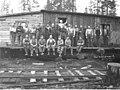 Logging crew and cook at Coal Creek Lumber Company camp, ca 1921 (KINSEY 42).jpeg