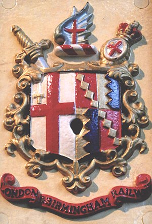 London and Birmingham Railway - Image: London & Birmingham Railway Coat of Arms