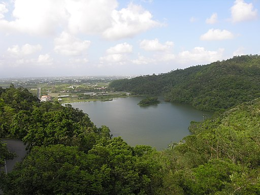 Looking down on Meihua Lake