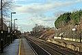 Looking west, Lea Green railway station (geograph 3818911).jpg