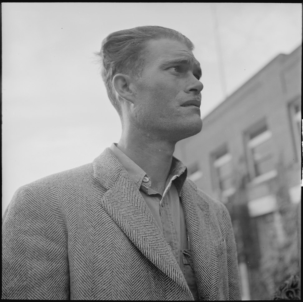 Los Angeles, California. Lockheed Employment. A worried applicant waiting to be interviewed - NARA - 532210