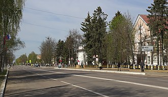 Lotoshinsky District - Street view in Lotoshino, Lotshinsky District