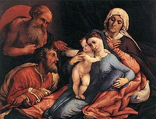 Sacra Famiglia con i santi Girolamo e Anna