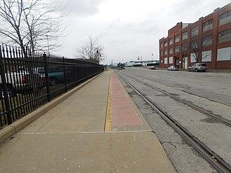 Union Station (Louisville) - The former platform for the Kentucky Cardinal at Louisville Union Station.