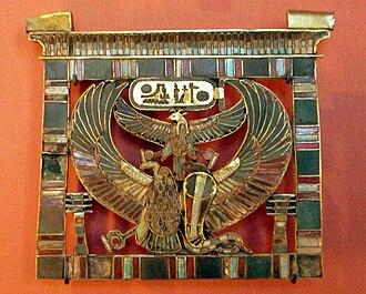 Pectoral (Ancient Egypt) - Image: Louvre pectoral au nom de Ramses II