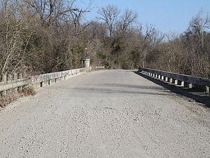 Richland, Texas - Love's Bridge at Richland Creek Crossing Near Richland Texas.