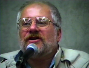 Chris Claremont - Chris Claremont at a comic convention in New York City around 1990