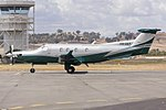 Lucas Air Transport (VH-VAT) Pilatus PC12-45 at Wagga Wagga Airport (1).jpg