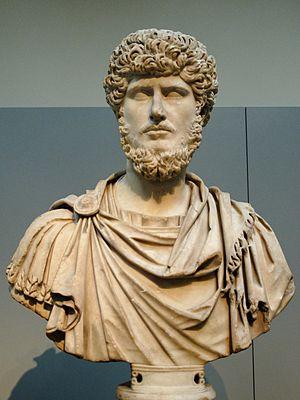 Portrait of Emperor Lucius Verus. Marble, ca. ...