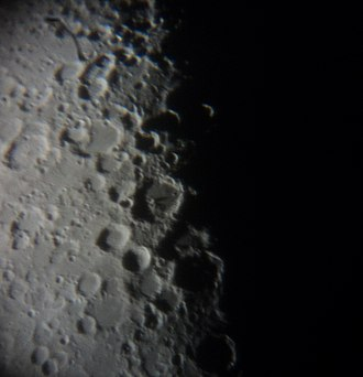 Regiomontanus (crater) - Regiomontanus as seen from Earth during the first quarter of the Moon
