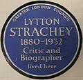 Lytton Strachey 51 Gordon Square blue plaque.jpg