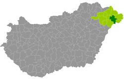 magyarország térkép mátészalka Mátészalka District   Wikipedia magyarország térkép mátészalka