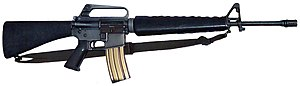Sling (firearms) - Image: M16A1 brimob