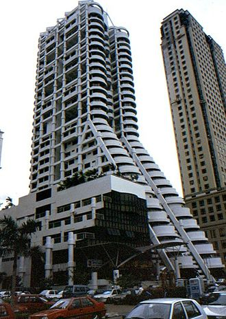 George Town CBD, Penang - The MBf Tower is one of the oldest commercial skyscrapers along Northam Road.