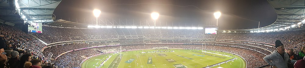 f7972acc655 Panoramic photo of the MCG in Rugby League mode from the Great Southern  Stand during the 1st game of the 2018 State of Origin series