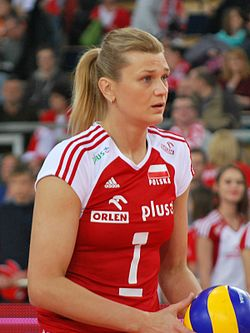 Małgorzata Glinka-Mogentale 02 - FIVB World Championship European Qualification Women Łódź January 2014.jpg