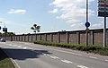 Maastricht-Limmel,Willem Alexanderweg, fabrieksmuur Tregaterrein02.JPG