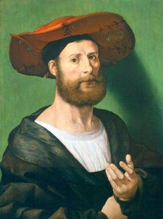 Jan Gossaert - Jan Gossaert-self portrait (1515–1520). Collection of the Currier Museum of Art, Manchester, New Hampshire
