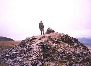 The Private Memoirs and Confessions of a Justified Sinner - Cairn on the reputed site of an 18th-century suicide's grave, Scotland.