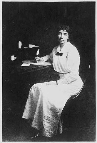 Madeline McDowell Breckinridge - Breckinridge at her desk.