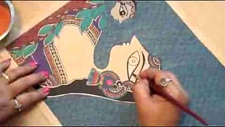 File:Madhubani Art with Bharti Dayal.ogv