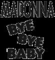 Madonna - Bye Bye Baby logo.png