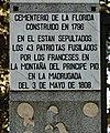 Madrid – Cementerio de La Florida – Tres-de-Mayo, Entrada.jpg