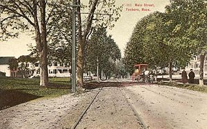 Foxborough, Massachusetts - Main Street c. 1906