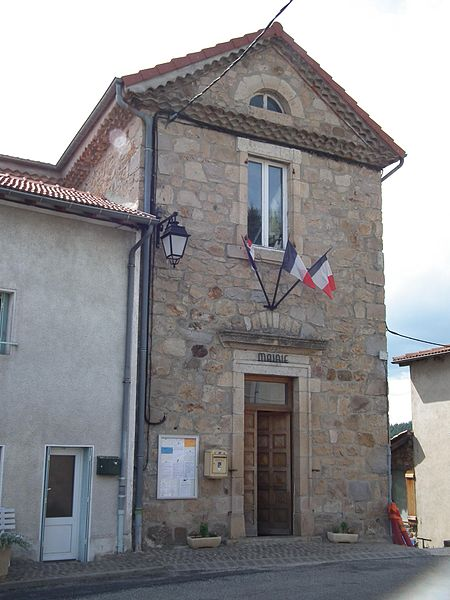 Town hall of Saint-Julien-Labrousse - Ardèche - France