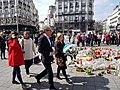 Malcorra homenajea a las víctimas de los atentados en Bruselas de 2016.jpg