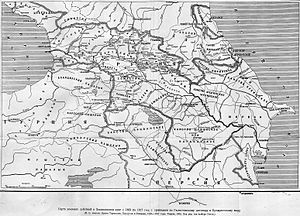 South Ossetia - Historical Russian map of the Caucasus region at the beginning of the 19th century