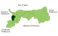 Map Nanbu,Tottori en.png