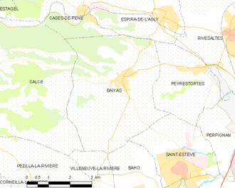 Baixas - Map of Baixas and its surrounding communes
