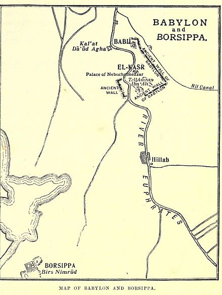 Babylon Karte.Borsippa Wikiwand