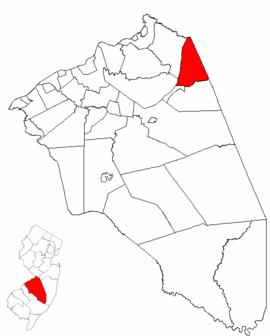 Map of Burlington County highlighting North Hanover Township.png