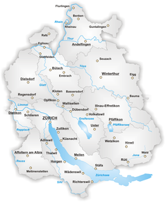 Location of Zürich