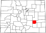 Map of Colorado highlighting Crowley County.svg