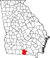 Map of Georgia highlighting Lowndes County.svg