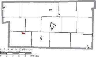 Glenmont, Ohio - Image: Map of Holmes County Ohio Highlighting Glenmont Village