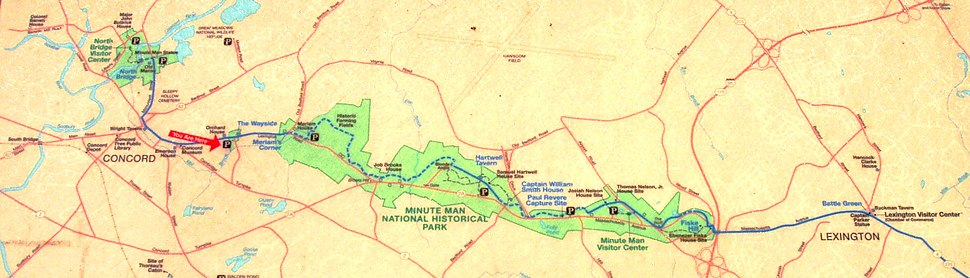 Map of Minute Man National Historic Park