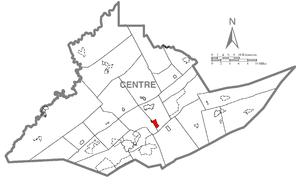 Pleasant Gap, Pennsylvania - Image: Map of Pleasant Gap, Centre County, Pennsylvania Highlighted