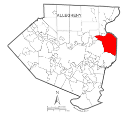Map of Plum Township, Allegheny County, Pennsylvania Highlighted.png