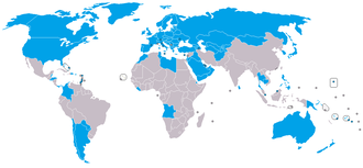 Proliferation Security Initiative - PSI-endorsing states, as of 2013