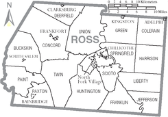 Map of Ross County Ohio With Municipal and Township Labels.PNG