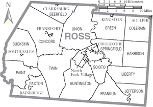 Ross County Ohio Wikipedia - Ohio map counties