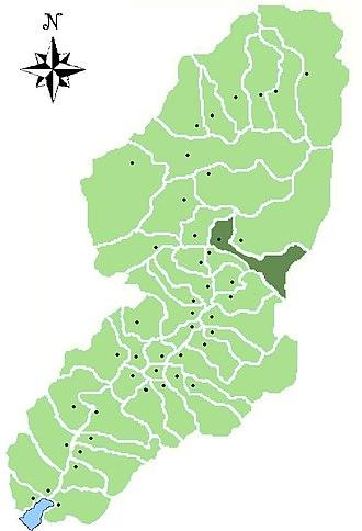 Cevo - Image: Map of comune of Cevo in Val Camonica (LG)