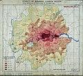 Map of the density of bombing, London region, to October 1941 (HO193-45) (29282975318).jpg
